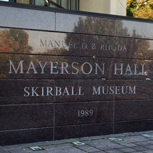 Mayerson Hall Sign